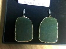 Rarities Carol Brodie Ocean Jasper and  Champagne Diamond Vermeil Drop Earrings