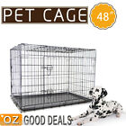 XXL Extra Large Foldable Metal Pet Dog Puppy Cage Crate Kennel Enclosure 48