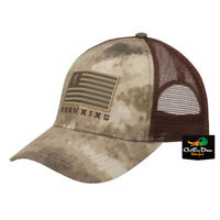 NEW BROWNING PATRIOT MESH BACK ADJUSTABLE BALL CAP HAT FLAG LOGO ATACS AU CAMO