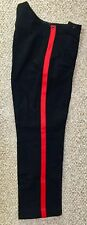 "British Army No1 RMA Dress Trouser Single Red Stripes, 35"" waist, Very Good"