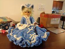 "Vintage Hand Made Crocheted Little Bo Peep Doll Dress,Hat,Petticoat on 14"" Doll"
