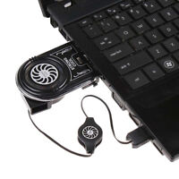 NEW Universal Portable Mini USB Cooler Air Extracting Cooling Pad Fan For Laptop