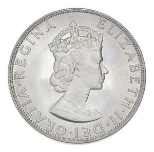 Choice BU Unc 1964 Bermuda 1 Crown Silver Coin - Mint State *771