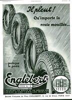Publicité ancienne accessoire automobile pneu Englebert 1936 issue de magazine
