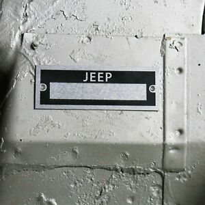 Jeep Identification Plate Dataplate Serial Number # ID Tag Cherokee CJ DJ Laredo
