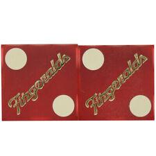 "Casino Dice - Fitzgeralds Casino Pair of Matching Number Dice 11/16"""