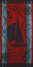 Betz Toalla de playa de terciopelo XXL 100% algodón 75x150 cm diseño BARCA rojo