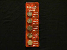 Loopacell 3 Volt Lithium Motherboard CMOS Button Battery Type CR2032 (5-pack)
