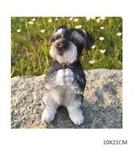 """8.5"""" H praying schnauzer  puppy dog resin figure figurine    Us un72"""