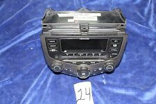 03-07 Honda ACCORD Stereo W/ 6 Disc CD PLAYER Changer & Climate CONTROL Nice OEM