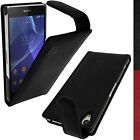 Genuine Leather Flip Case Cover Holder for Sony Xperia Z2 D6503 + Screen Prot