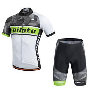 Men's Cycling Set Short Sleeve Clothing Cycle Jersey and Bike Padded Shorts Kit