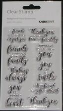 Kaisercraft Clear Stamps 150x100mm  'SENTIMENTS' (Choose from 4 Designs) KAISER