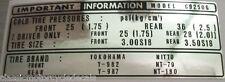 Honda CB250G5 Neumáticos Precaución Advertencia Etiqueta Label