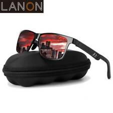 LANON Herren HD Polarisiert Sonnenbrille 100% UV400 -Polycarbonat  Pilotenbrille