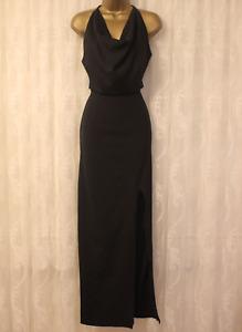 The 8th Sign ASOS Venus Diamond Cowl Pencil Wedding Party Maxi Dress 8 36 £195