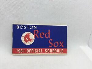 1961 Boston Red Sox Flip Book Baseball Schedule Gillette Razors