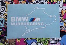 VINILO ADHESIVO PEGATINA NURBURGRING BMW STICKER BLANCO