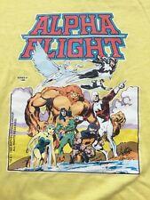 VTG 1984 ALPHA FLIGHT Marvel comics #1 cover yellow t shirt sz M