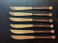 Flatware 6 Piece Wood Handle Flatware Knife Set with Wooden Carrying Case