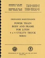 TM9-8015-2 ~ Power Train, Body & Frame Manual ~ M38A1 ~ Jeep ~ Reprnt