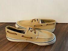 Sperry Top Sider New Bahama II 2-Eye Khaki Boat Shoe Men's Shoe Size 9 MSRP $65