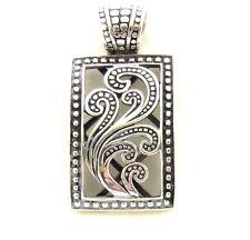 "Silpada~""Paisley"" Oxidized Filigree Sterling Silver Pendant~S1744"
