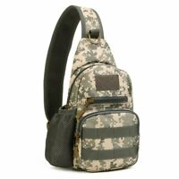 Small Tactical Chest Bags Molle Daypack Backpack Military Shoulder Crossbody Bag