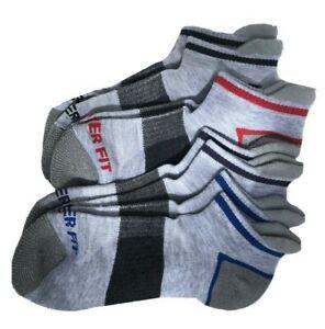 Copper Fit Fresh Touch Men's 4 pack Ankle Socks in Lt Grey 4-10