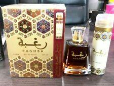 Raghba 100ml EDP Perfume for unisex Lattafa Perfume Free Shipping Free Deodrant.