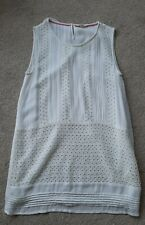 White Stuff Cream Layered Lightweight Dress Size UK 14 Excellent Condition