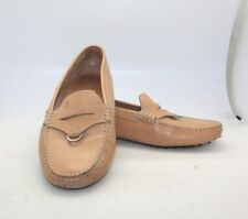 Tod's Women's Tan Leather Classic Driving Loafers SZ 10