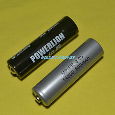 1PC LiFePO4 LFP AA IFR 14500 3.2V 600mAh battery rechargeable + 1PC Spacer