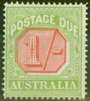 Australia 1923 1s Scarlet & Pale Yellow Green SGD85 Fine Mtd Mint