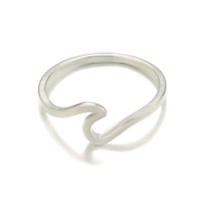 Sterling Silver Ocean Sea Island Beach Wave Wrap Womens Wedding Engagement Ring