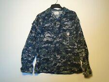 USN SEABEES US NAVY WORKING UNIFORM NWU TYPE II COAT SIZE 35 REGULAR 2014 23-Q