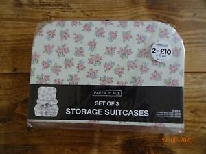 SET OF 3 STORAGE SUITCASES SMALL