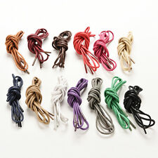 2 Pairs 100//120//140Cm Round Waxed Shoelaces Leather Shoes Sport Shoe Laces✔GQ