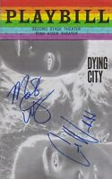 Mary Elizabeth Winstead/ Colin Woodell Signed Dying City Playbill AFTAL