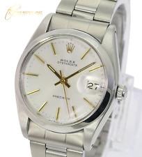 Authentic Rolex Oysterdate 6694 Silver Original Dial  Smooth Bezel 34mm Watch