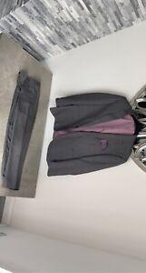 grey tartan taylor and wright suit