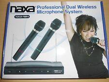 Naxa Dual Handheld Wireless Microphone Starter Kit with Cordless FM Receiver