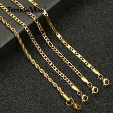 """Link Anklet Bracelet Figaro/Curb/Rope/Flat Chain For Women 10"""" Stainless Steel"""