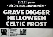 HELLOWEEN - 1986 - Tourplakat - Concert - Grave Digger - Celtic Frost - Poster
