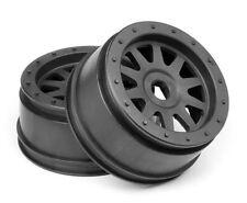 NEW HPI Super 5SC Flux TR-10 Glue-Lock Wheel Gunmetal (120x60mm) (2) 108323 5T