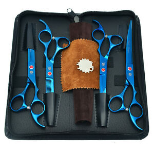 """7.0"""" Pet Grooming Scissors Set Dog Cutting Thinning Cuved Scissors Puppy Clipper"""