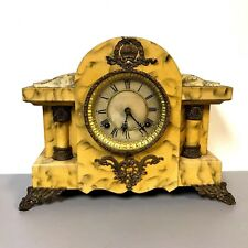 Antique Faux Marble Painted Waterbury Mantel Clock