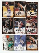 1999 NBA Basketball SIGNED AUTOGRAPH Card Lot of 9 Cards Edge Skybox