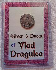 Piece Argent Comte Dracula PURE Silver Coin Vlad dragulea vampire BRAM STOKER