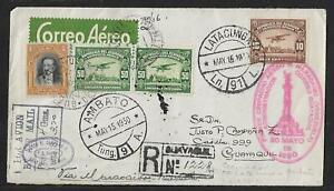 ECUADOR TO VENEZUELA MILITARY FLIGHT AIR MAIL COVER 1930 VERY SCARCE